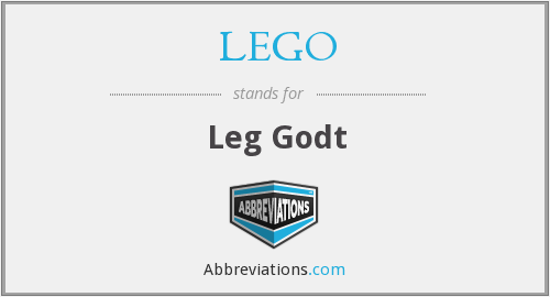 What does LEGO stand for?