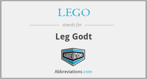 LEGO - Leg Godt