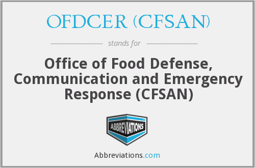 What does OFDCER (CFSAN) stand for?