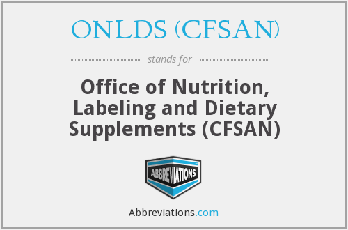 What does ONLDS (CFSAN) stand for?