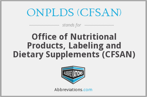 What does ONPLDS (CFSAN) stand for?