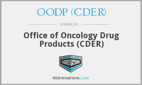 What does OODP (CDER) stand for?