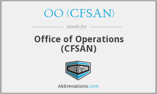 What does OO (CFSAN) stand for?