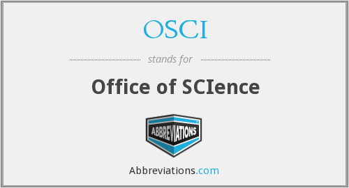 OSCI - Office of SCIence