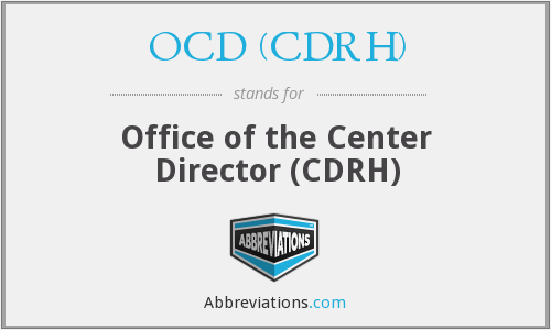 What does OCD (CDRH) stand for?