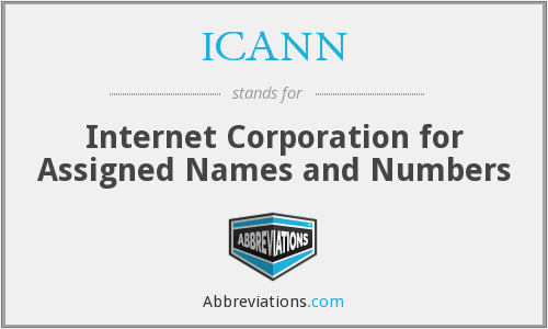 What does ICANN stand for?