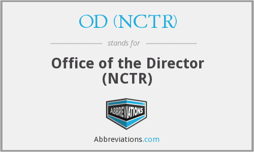 What does OD (NCTR) stand for?