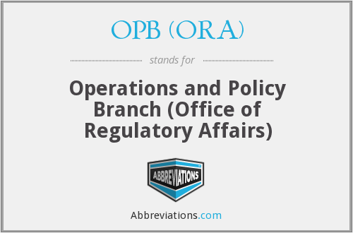 What does OPB (ORA) stand for?