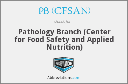 PB (CFSAN) - Pathology Branch (Center for Food Safety and Applied Nutrition)