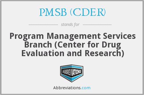 What does PMSB (CDER) stand for?