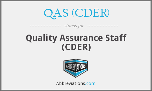 What does QAS (CDER) stand for?