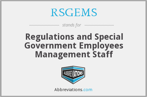 RSGEMS (CFSAN) - Regulations and Special Government Employees Management Staff (CFSAN)