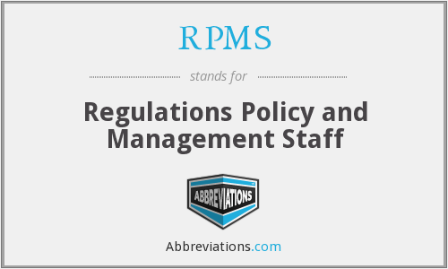 RPMS (OC) - Regulations Policy and Management Staff (OC)