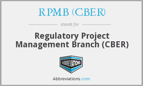 What does RPMB (CBER) stand for?