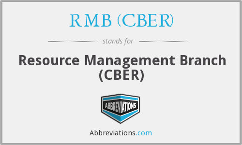 What does RMB (CBER) stand for?