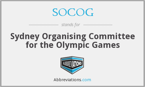What does SOCOG stand for?