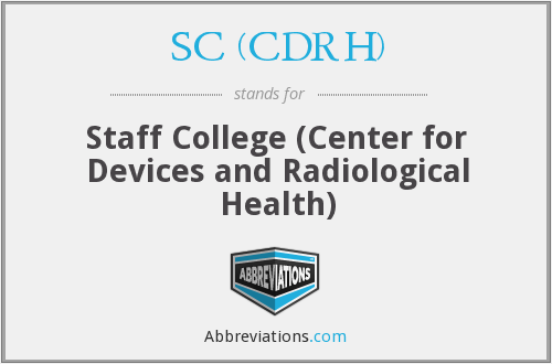 What does SC (CDRH) stand for?