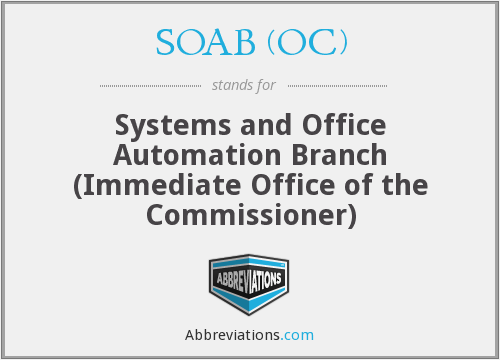 What does SOAB (OC) stand for?