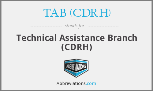 What does TAB (CDRH) stand for?