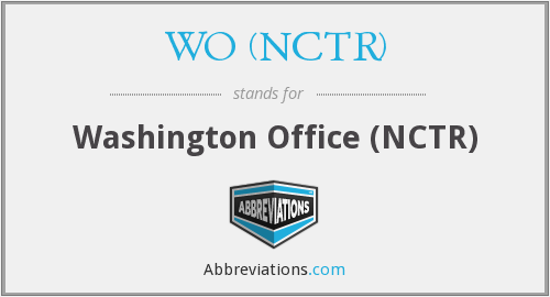 What does WO (NCTR) stand for?