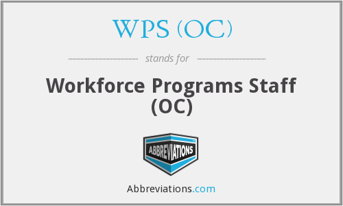 WPS (OC) - Workforce Programs Staff (OC)
