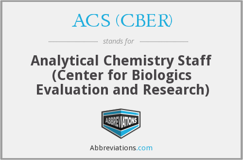 What does ACS (CBER) stand for?