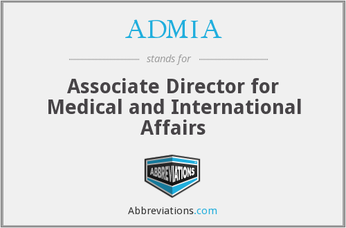 What does ADMIA stand for?