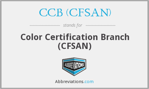What does CCB (CFSAN) stand for?