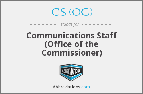CS (OC) - Communications Staff (OC)