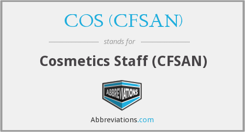 What does COS (CFSAN) stand for?