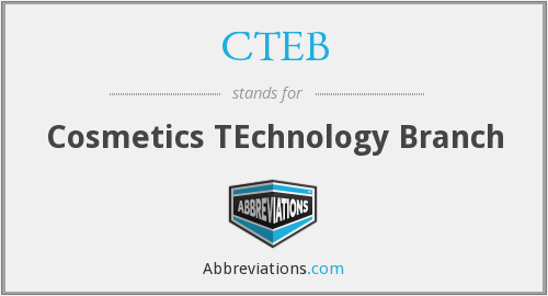 CTEB - Cosmetics TEchnology Branch