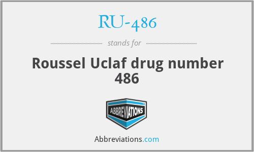 RU-486 - Roussel Uclaf drug number 486