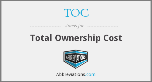 TOC - Total Ownership Cost