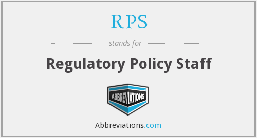 RPS - Regulatory Policy Staff