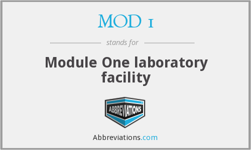 What does MOD 1 stand for?