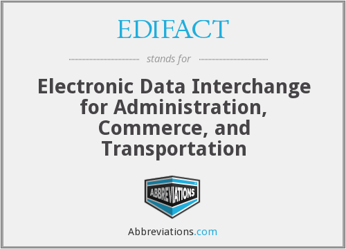 EDIFACT - Electronic Data Interchange for Administration, Commerce, and Transportation