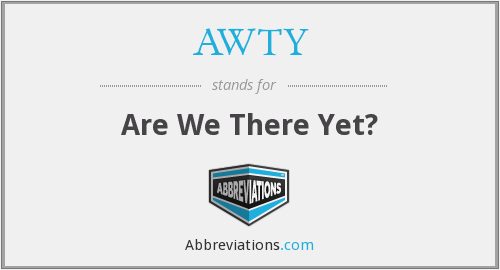 AWTY - Are We There Yet?