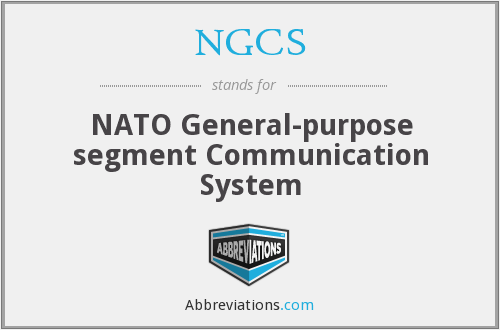 NGCS - NATO General-purpose segment Communication System