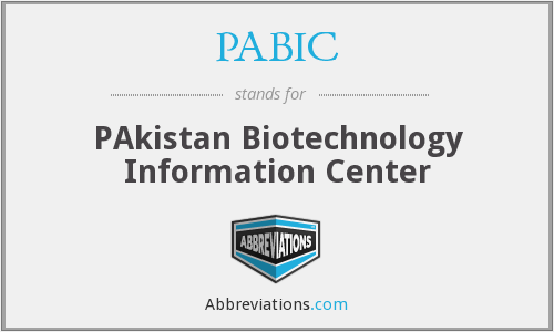 PABIC - PAkistan Biotechnology Information Center