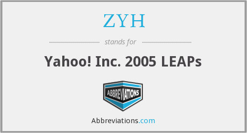 What does ZYH stand for?