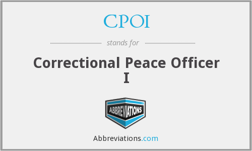 CPOI - Correctional Peace Officer I
