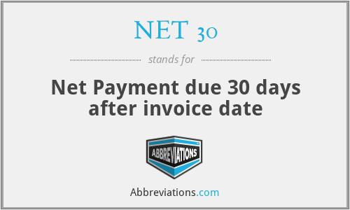 net 30 invoice
