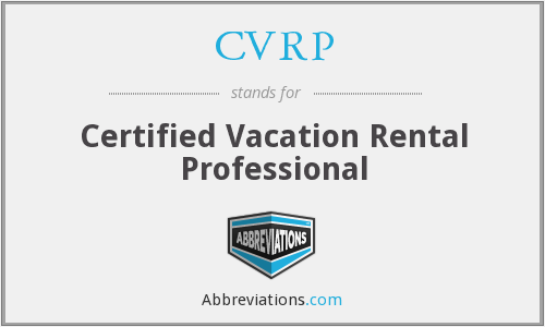 CVRP - Certified Vacation Rental Professional