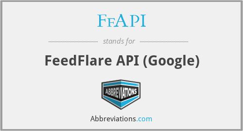 FfAPI - FeedFlare API (Google)