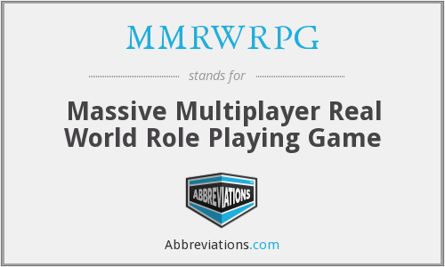 What does MMRWRPG stand for?