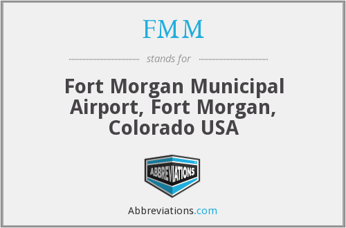 FMM - Fort Morgan Municipal Airport, Fort Morgan, Colorado USA