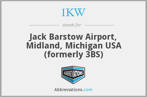 IKW - Jack Barstow Airport, Midland, Michigan USA (formerly 3BS)