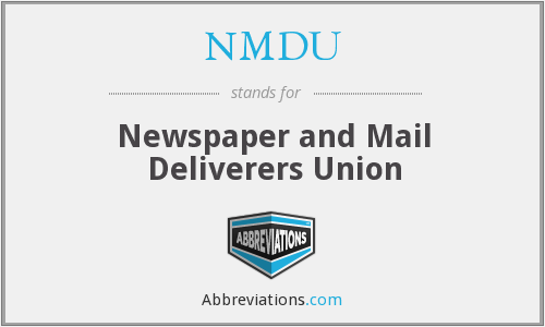 What does NMDU stand for?