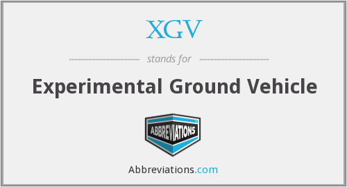 XGV - Experimental Ground Vehicle