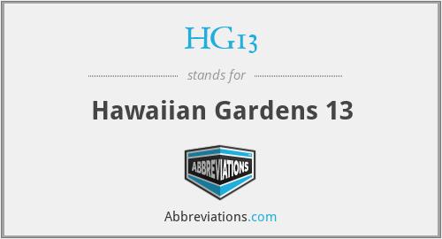 HG13 - Hawaiian Gardens 13